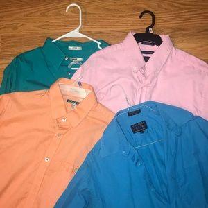 Lot of 4 large dress shirts